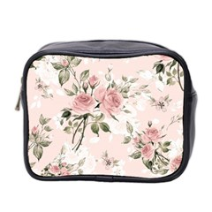 Pink Shabby Chic Floral Mini Toiletries Bag 2 Side by 8fugoso