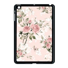 Pink Shabby Chic Floral Apple Ipad Mini Case (black) by 8fugoso