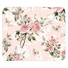 Pink Shabby Chic Floral Double Sided Flano Blanket (small)  by 8fugoso