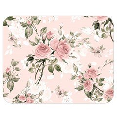 Pink Shabby Chic Floral Double Sided Flano Blanket (medium)  by 8fugoso
