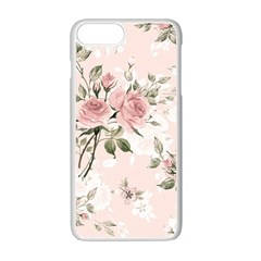 Pink Shabby Chic Floral Apple Iphone 7 Plus Seamless Case (white) by 8fugoso