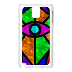 Illuminati Abstract Samsung Galaxy Note 3 N9005 Case (white) by vwdigitalpainting