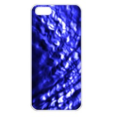 Blue Ripple Apple Iphone 5 Seamless Case (white) by vwdigitalpainting
