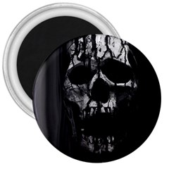 Black And Grey Nightmare 3  Magnets by vwdigitalpainting