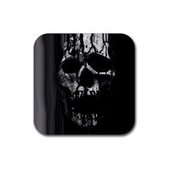 Black And Grey Nightmare Rubber Square Coaster (4 Pack)  by vwdigitalpainting