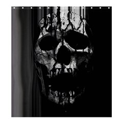 Black And Grey Nightmare Shower Curtain 66  X 72  (large)  by vwdigitalpainting