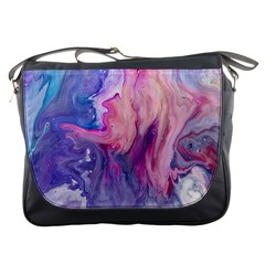 Marbled,ultraviolet,violet,purple,pink,blue,white,stone,marble,modern,trendy,beautiful Messenger Bags by 8fugoso