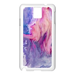 Marbled,ultraviolet,violet,purple,pink,blue,white,stone,marble,modern,trendy,beautiful Samsung Galaxy Note 3 N9005 Case (white) by 8fugoso