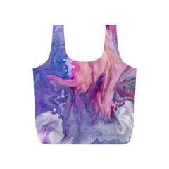 Marbled,ultraviolet,violet,purple,pink,blue,white,stone,marble,modern,trendy,beautiful Full Print Recycle Bags (s)  by 8fugoso