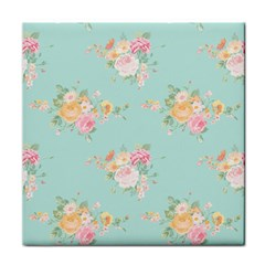 Mint,shabby Chic,floral,pink,vintage,girly,cute Tile Coasters by 8fugoso