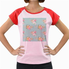 Mint,shabby Chic,floral,pink,vintage,girly,cute Women s Cap Sleeve T Shirt by 8fugoso