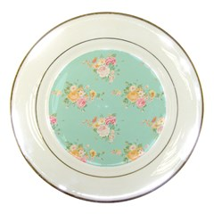 Mint,shabby Chic,floral,pink,vintage,girly,cute Porcelain Plates by 8fugoso