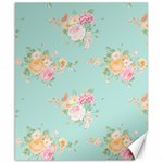 Mint,shabby chic,floral,pink,vintage,girly,cute Canvas 8  x 10  10.02 x8  Canvas - 1