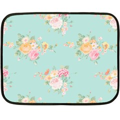Mint,shabby Chic,floral,pink,vintage,girly,cute Double Sided Fleece Blanket (mini)  by 8fugoso