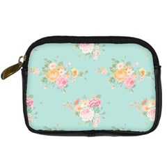 Mint,shabby Chic,floral,pink,vintage,girly,cute Digital Camera Cases by 8fugoso