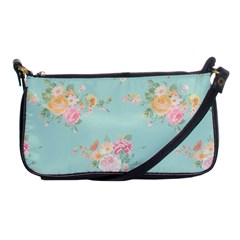 Mint,shabby Chic,floral,pink,vintage,girly,cute Shoulder Clutch Bags by 8fugoso