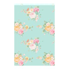 Mint,shabby Chic,floral,pink,vintage,girly,cute Shower Curtain 48  X 72  (small)  by 8fugoso