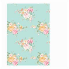 Mint,shabby Chic,floral,pink,vintage,girly,cute Small Garden Flag (two Sides) by 8fugoso
