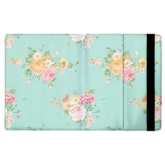Mint,shabby Chic,floral,pink,vintage,girly,cute Apple Ipad 3/4 Flip Case by 8fugoso