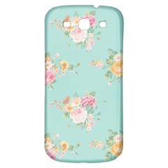 Mint,shabby Chic,floral,pink,vintage,girly,cute Samsung Galaxy S3 S Iii Classic Hardshell Back Case by 8fugoso
