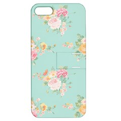 Mint,shabby Chic,floral,pink,vintage,girly,cute Apple Iphone 5 Hardshell Case With Stand by 8fugoso