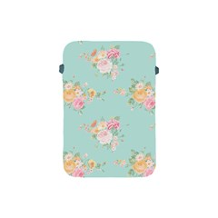 Mint,shabby Chic,floral,pink,vintage,girly,cute Apple Ipad Mini Protective Soft Cases by 8fugoso