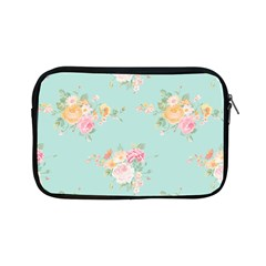 Mint,shabby Chic,floral,pink,vintage,girly,cute Apple Ipad Mini Zipper Cases by 8fugoso