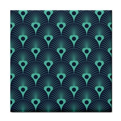 Blue,teal,peacock Pattern,art Deco Tile Coasters by 8fugoso