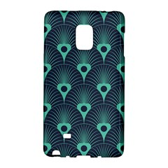 Blue,teal,peacock Pattern,art Deco Galaxy Note Edge by 8fugoso