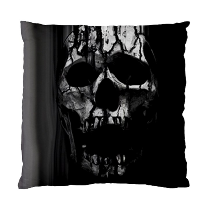 Black And Grey Nightmare Standard Cushion Case (Two Sides)