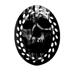Black And Grey Nightmare Ornament (oval Filigree) by vwdigitalpainting