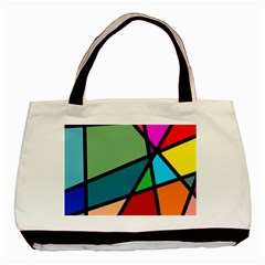 Modern Abstract Basic Tote Bag by vwdigitalpainting
