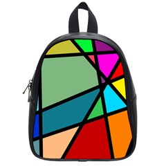 Modern Abstract School Bag (small) by vwdigitalpainting