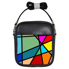Modern Abstract Girls Sling Bags by vwdigitalpainting
