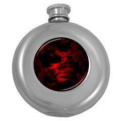 Anxiety Round Hip Flask (5 Oz) by vwdigitalpainting