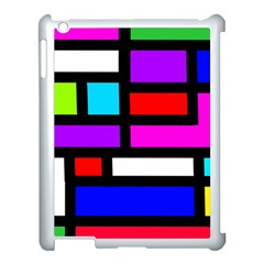 Dutch Modern Abstract Apple Ipad 3/4 Case (white) by vwdigitalpainting