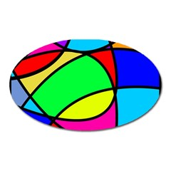 Abstract Curves Oval Magnet