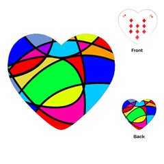 Abstract Curves Playing Cards (heart)