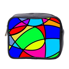Abstract Curves Mini Toiletries Bag 2 Side by vwdigitalpainting
