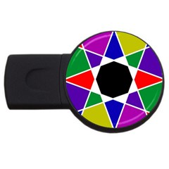 Compass Abstract Usb Flash Drive Round (2 Gb) by vwdigitalpainting