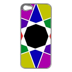 Compass Abstract Apple Iphone 5 Case (silver) by vwdigitalpainting