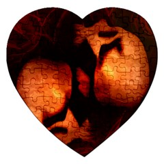 Of Two Minds Jigsaw Puzzle (heart) by vwdigitalpainting