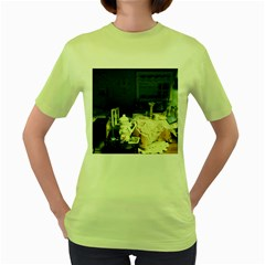 Abandonded Dollhouse Women s Green T-shirt