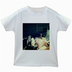 Abandonded Dollhouse Kids White T-shirts