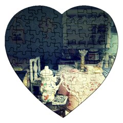 Abandonded Dollhouse Jigsaw Puzzle (heart)