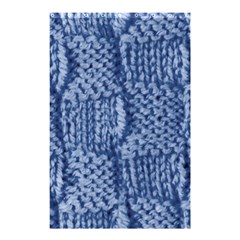 Knitted Wool Square Blue Shower Curtain 48  X 72  (small)  by snowwhitegirl