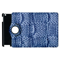 Knitted Wool Square Blue Apple Ipad 2 Flip 360 Case by snowwhitegirl