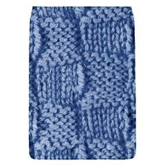 Knitted Wool Square Blue Flap Covers (s)  by snowwhitegirl