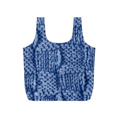 Knitted Wool Square Blue Full Print Recycle Bags (s)  by snowwhitegirl