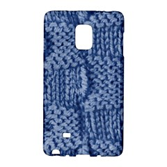 Knitted Wool Square Blue Galaxy Note Edge by snowwhitegirl